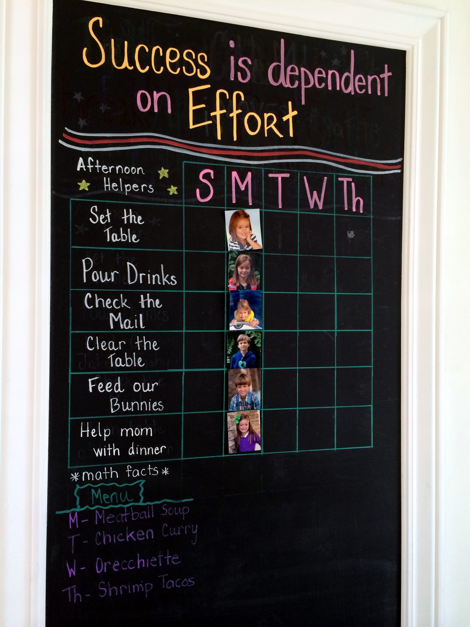 Kitchen Message Board A Family Message Board The Simple Proof