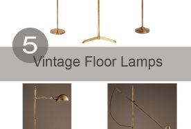 Friday Favorites | Brass Floor Lamps