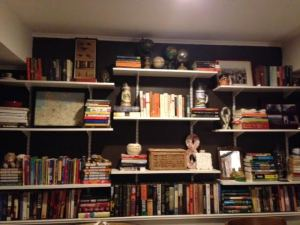 Wall of books- after