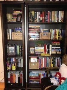 Freestanding shelves- after.