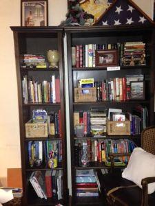 Freestanding shelves- before