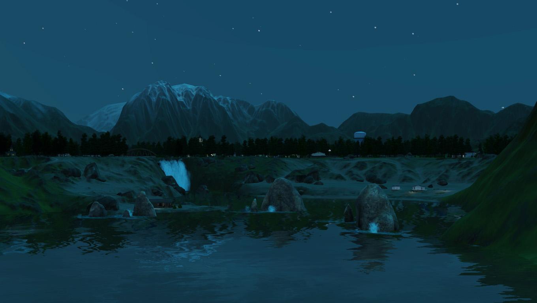 月光风景矢量图