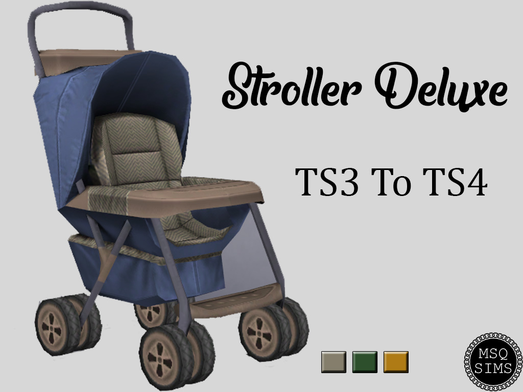 Sims 4 Toddler Stroller Mod Stroller Deluxe Ts3 To Ts4 The Sims 4 Catalog