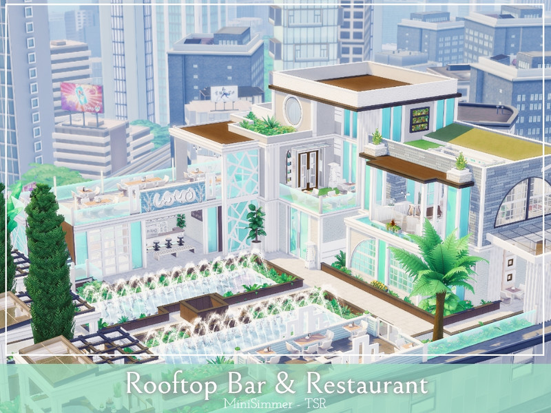 Rooftop Bar and Restaurant - The Sims 4 Catalog