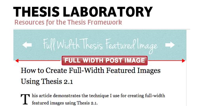 Thesis theme custom headline meta
