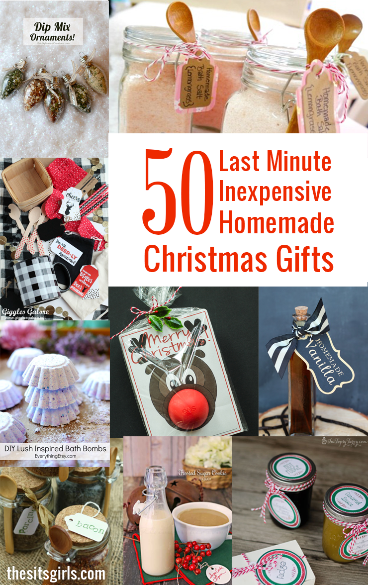 Christmas Homemade Gifts 50 Last Minute Inexpensive Homemade Christmas Gifts