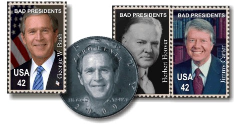 Post Office Adds Bush to Presidential Stamp Series