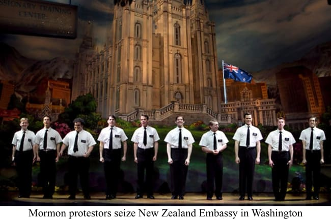 Mormons Attack New Zealand Embassy to Protest Broadway Musical