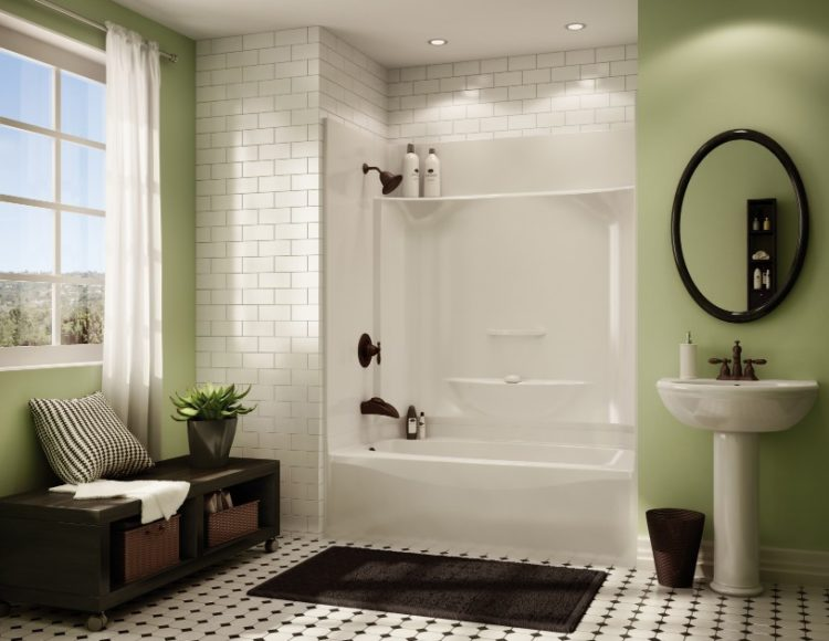 Bathtub Shower Combo Ideas For Wonderful Bathroom Area Design