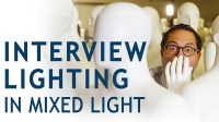 Interview Lighting in Mixed Light - The Slanted Lens