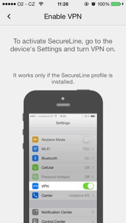 avast! SecureLine VPN iPhone Review screenshot