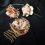 Flores de tela estilo rústico