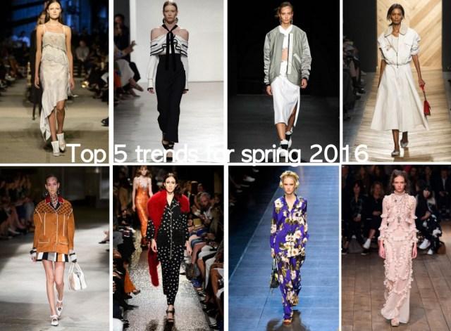 top 5 trends spring 2016