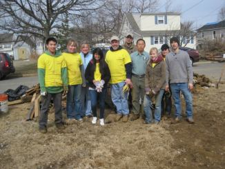 MU's Habitat for Humanity organization on their trip to N.J. over spring break.