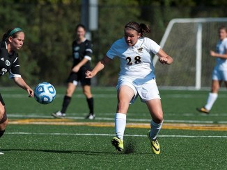 Hannah Willet anchors the back line for the Lady Marauders.  Photo courtesy of MU Athletics.