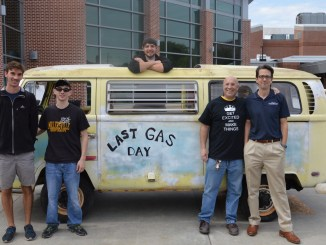 Albert Unrath and students from the Society of Manufacturing Engineers collaborated to convert the van from using gas fuel to electric fuel use. (Aaron Jaffe/Snapper)