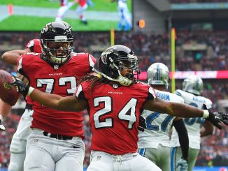 Devonta Freeman is a critical player for the 5-o Falcons. Photo courtesy of ESPN.