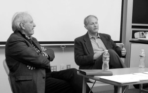 Dan Miller (left) and Mark Cirtz (right) addressed large issues facing the nation. Photo courtesy of Kelsey Bundra.
