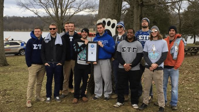 Sigma Gamma Tau commits itself to being a charitable fraternity. Photo courtesy of Will McGrorty.