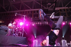 Lead singer of band New Politics, David Boyd, rocks the Millersville stage. (Kevin Kaiser/Snapper)