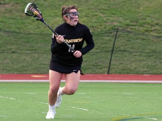 Despite Sabrina Fusco's offensive explosion, Millersville could not keep pace with Mercyhurst. (Photo courtesy of MU Athletics)