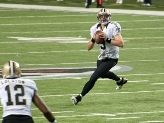 Drew Brees threw for 356 yard and 2 touchdowns but couldn't keep pace with Tom Brady and the Patriots.