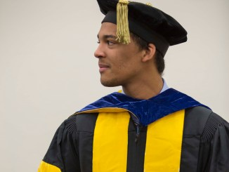 Justin Pierre was nominated by Professor Lawrence for his hard work. Photo courtesy of Millersville University.