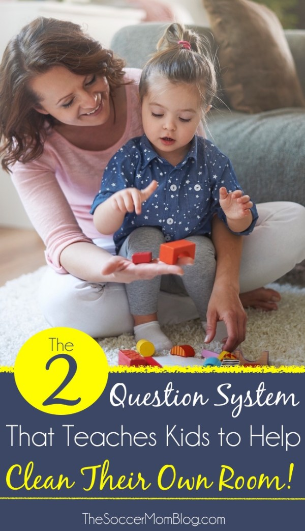 How your kids can help clean and organize their own room. Plus the two questions to ask them to decide what to keep or toss.