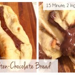 15 Minute & 2 Ingredient Molten Chocolate Bread