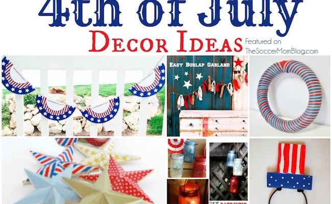 You are going to LOVE these awesomely EASY 4th of July party decor ideas! One, because they are gorgeous...and two, because they are easy-peasy! Fun and festive red white and blue crafts perfect for Memorial Day too!