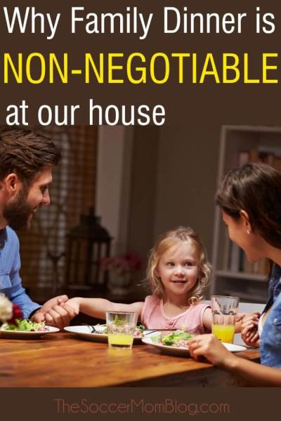 Why Family Dinner is Non-Negotiable at Our House