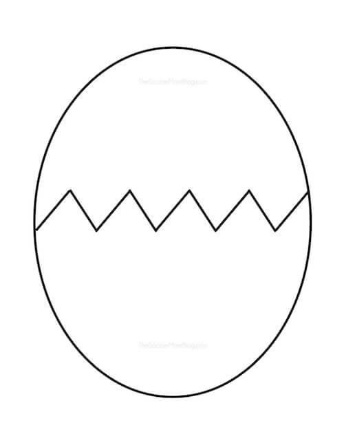 Free Printable Egg Pattern - The Soccer Mom Blog