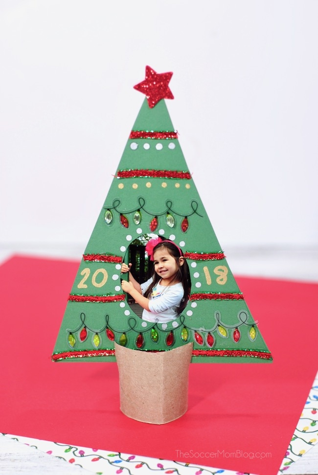 Kid-Made Christmas Tree Picture Frame - The Soccer Mom Blog