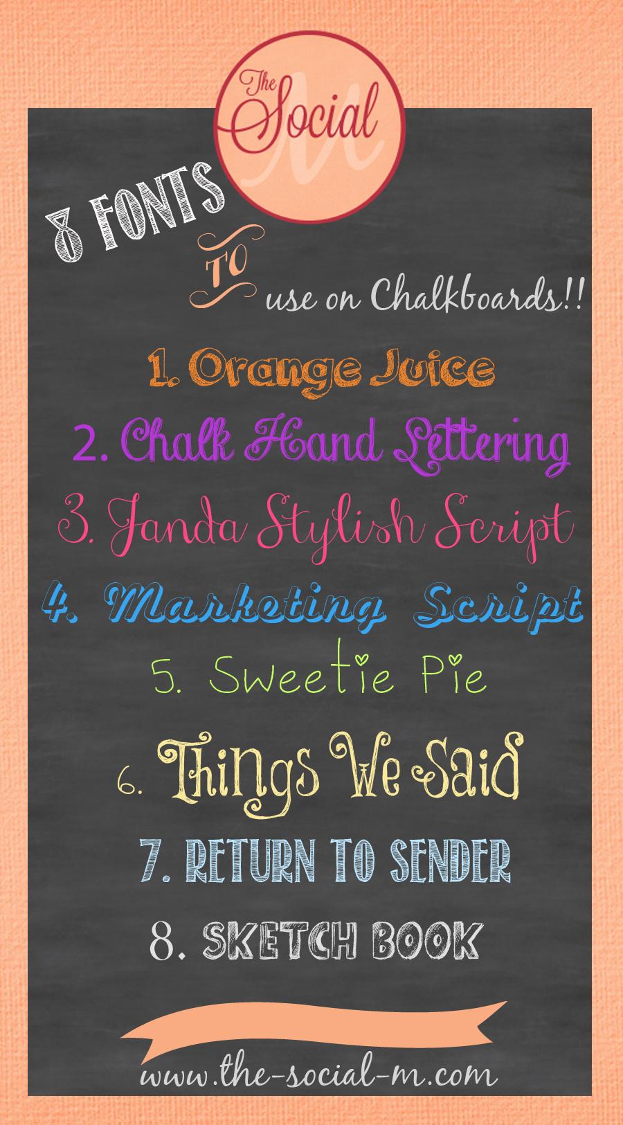 chalkboard font free