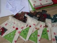 Fabric House Christmas Decorations   The sock garden