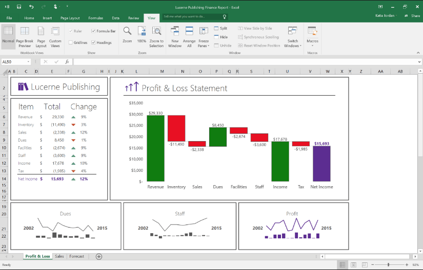 excel features