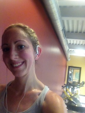 I heart sweat...and taking selfies at the gym.