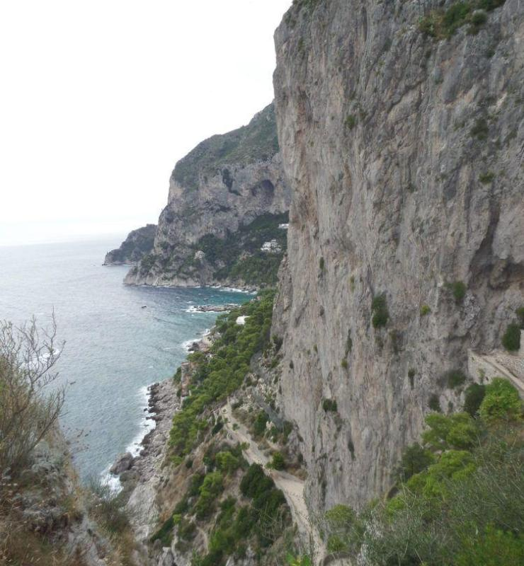 Travel to the Romantic Isle of Capri in the Gulf of Naples, Italy!  Winding roads on the coastline in Capri Italy!