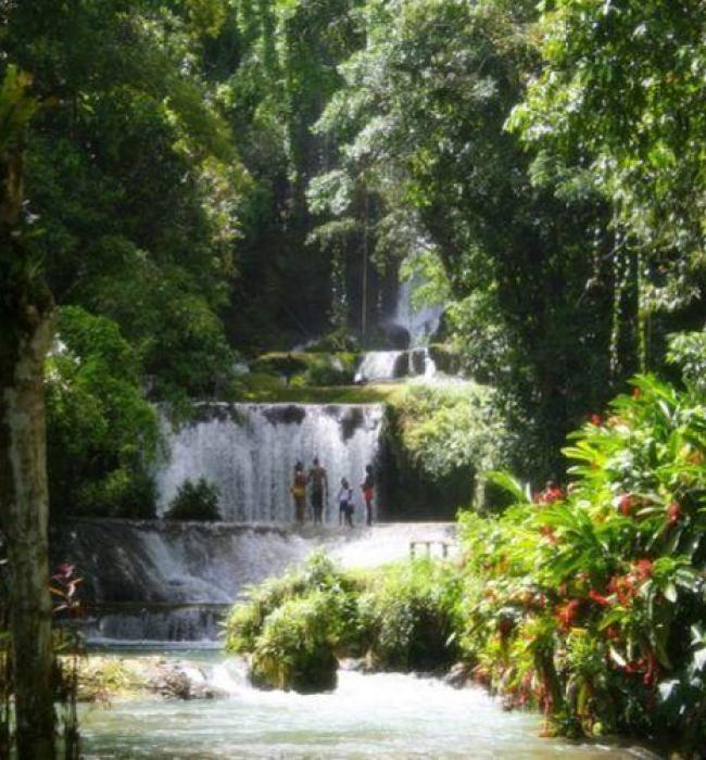 Visit Jamaica:Land I Love. YS Waterfalls in Jamaica.