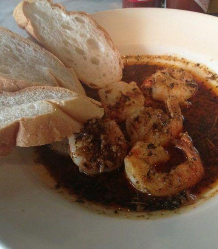 Eating in New Orleans: BBQ Shrimp at Oceana Grill.