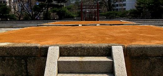 Seoul, Korea: Sajik Park, altar