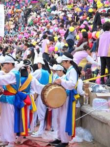 Seoul, Korea: Lotus Lantern Festival 2013, Eoulim Madang Musicians