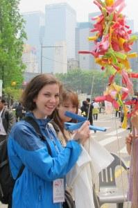 Making a Wish at the Lotus Lantern Festival