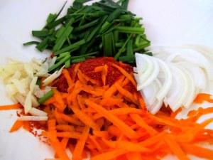Korean Cooking: Cucumber Side Dish Stuffing, Food
