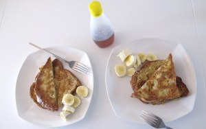 Food: Breakfast, French Toast and Bananas