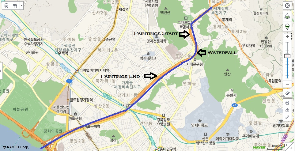 Map of the Hongecheon