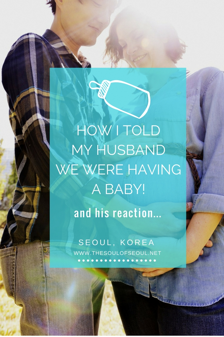 How I Told My Husband We Were Having A Baby and his reaction..., Seoul, Korea: Our baby is on the way and this is how we've announced that we're heading to the hospital. Maternity photos and more about an expat getting pregnant in Korea. Korean husband and western wife pregnant in Korea.
