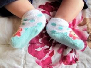 Baby Feet in cute socks