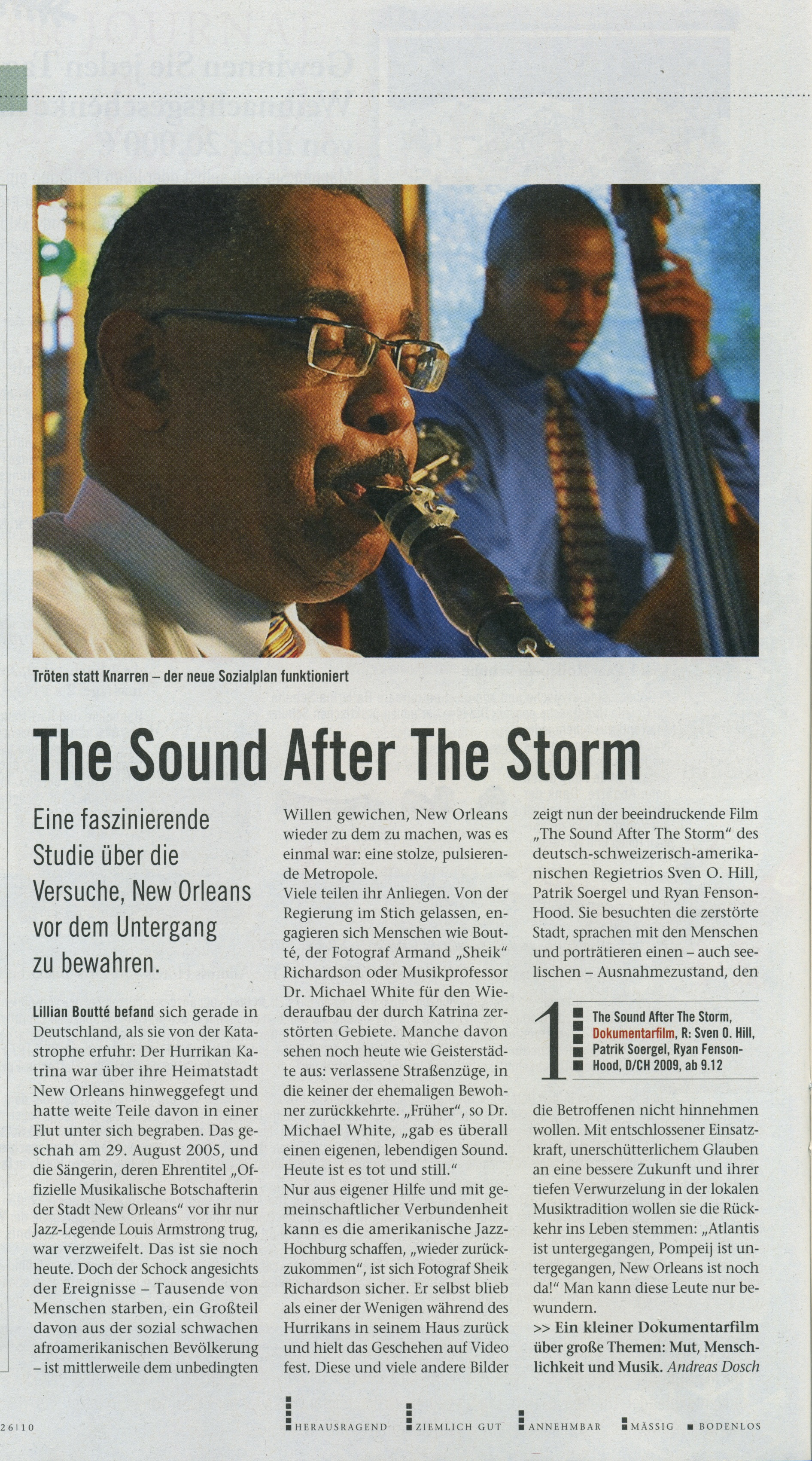 Arte France Journal The Sound After The Storm