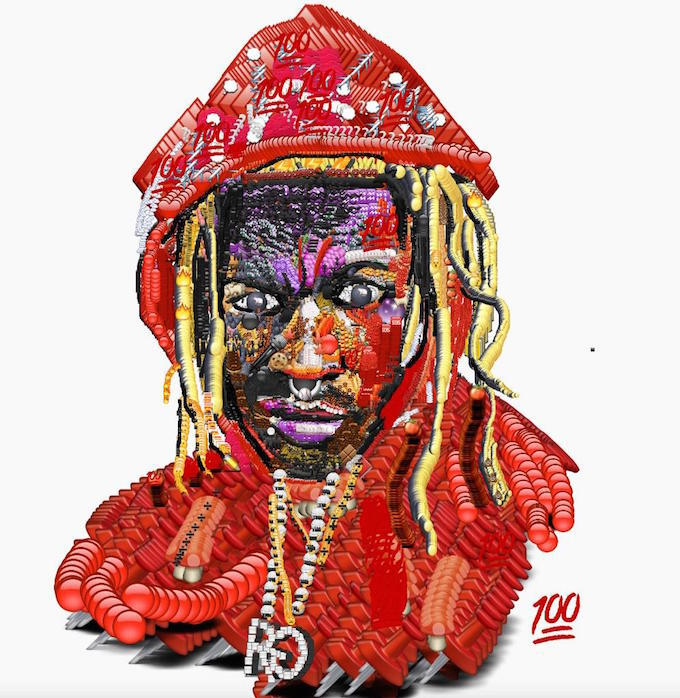 Gucci Mane Iphone Wallpaper Artist Paints Super Realistic Portraits Using Only Emojis